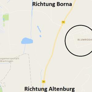 Gewerbepark Blumroda zwischen Altenburg und Borna