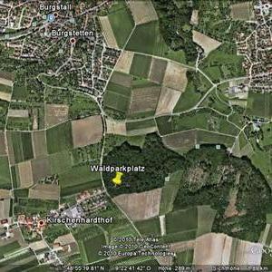 Treff m. w.  p. Waldparkplatz Kirschenhardthof